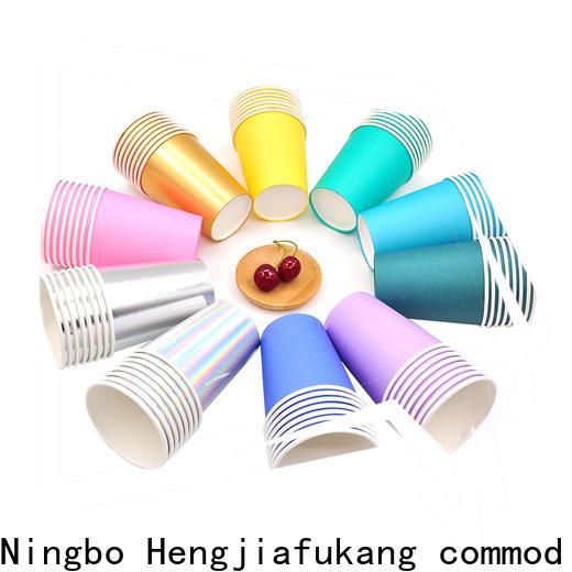 Hengjiafukang Custom white disposable cups for business food packaging