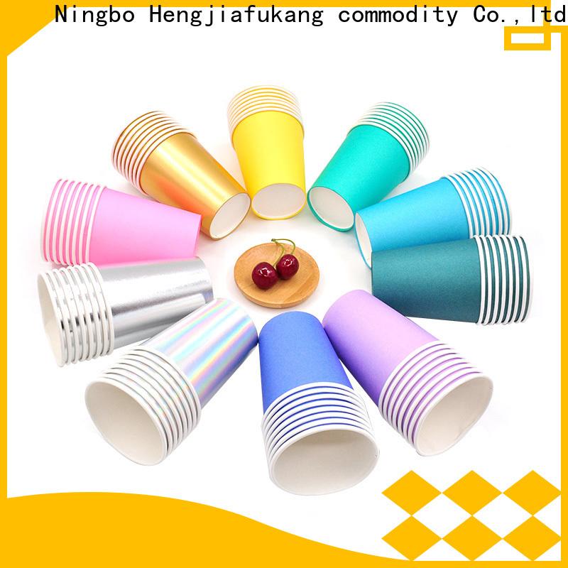 Hengjiafukang cool paper coffee cups manufacturers food packaging