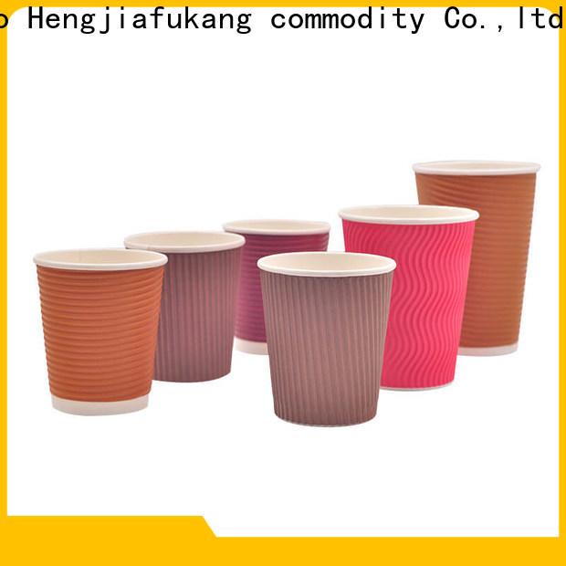 Hengjiafukang ribbed paper coffee cups manufacturers soup