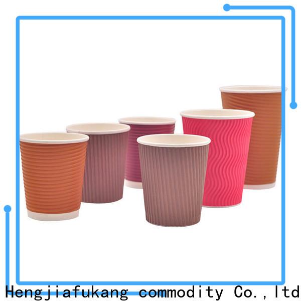 Hengjiafukang ribbed paper coffee cups Supply soup