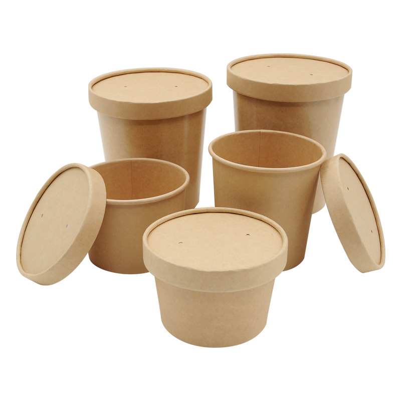 Kraft Paper Soup Container Noodle Soup Bowl